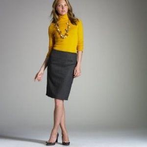 NWOT J. Crew No. 2 pencil skirt, charcoal, size 0